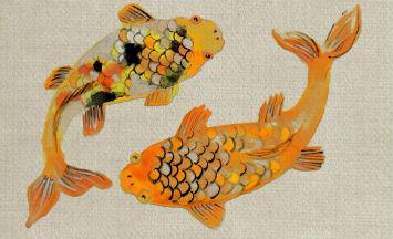 ภาพวาดปลาคู่
